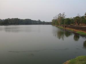A fraction of the moat at Angkor Wat