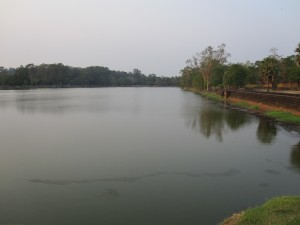 A fraction of the moat at Angkor Wat