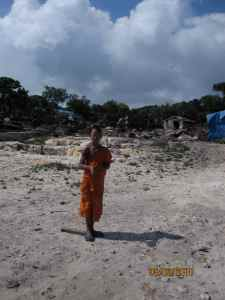 young monk, bokor wat, bokor national park, cambodia