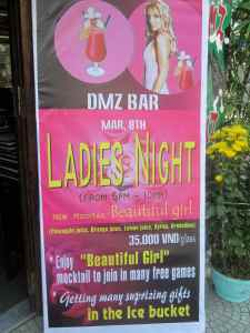 Poster for Ladies Night Outside DMZ Bar, Hue, Vietnam