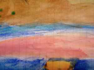 Z's painting of sunset of the Mekong