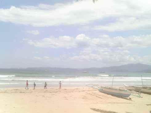 View of the beach, Sabang, Palawan, Philippines