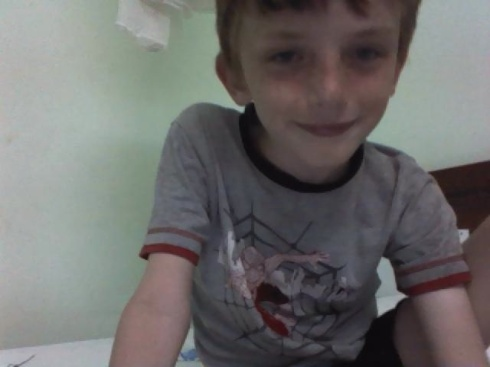 Z on webcam with a friend