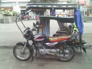 Tricycle in Boac town square, Marinduque, the Philippines