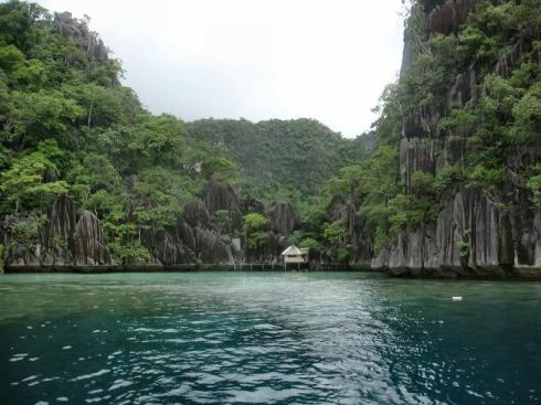 View of Barracuda Lake in the Calamian Islands, Philippines
