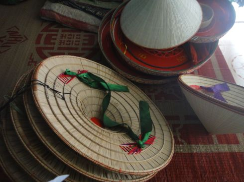 Traditional conical hats, Chuong village, Vietnam.