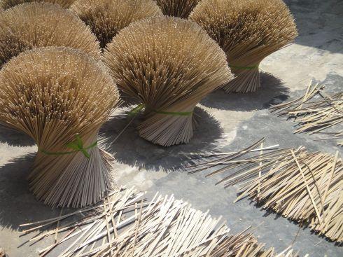Split bamboo sheaves and strips, Vietnam.