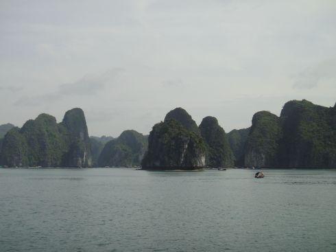view of islets, halong bay, vietnam