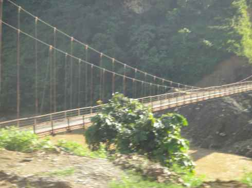 Suspension bridge, Vietnam.