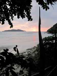 Sunset over the islands around Koh Chang, Thailand.