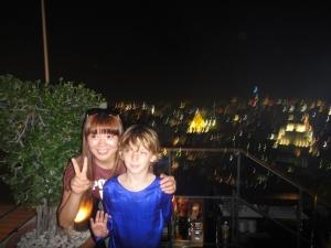 Z atop Vertigo Bangkok with new friend.