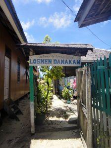 sign for losmen danawan, pulau derawan, indonesia.