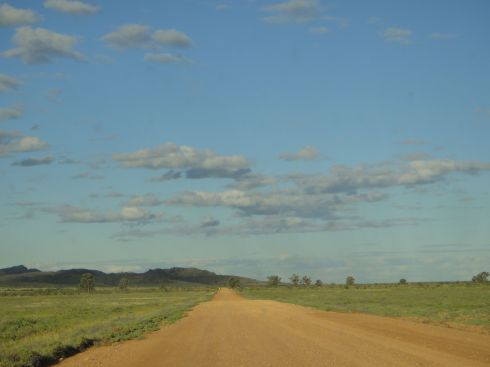 Big open road in the Outback.